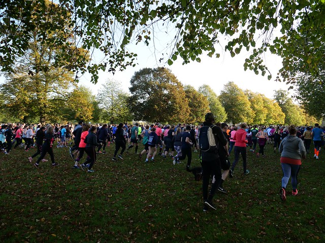 Runners beginning the 5k