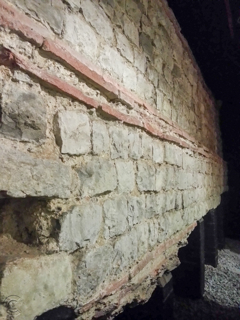 Detailed view of wall at Roman Wall House
