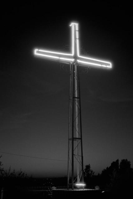 Świecący krzyż / Shining cross