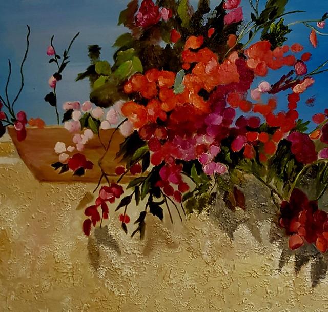 פרידה פירו ציירת ישראלית Frida piro אמנית מודרנית עכשווית ריאליסטית ירושלמית הציירת הישראלית האמנית העכשווית המודרנית הריאליסטית הירושלמית ציורי פרחים טבע דומם