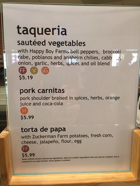 Taqueria menu