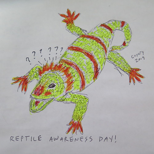 Inktober 21, 2019: Reptile Awareness Day