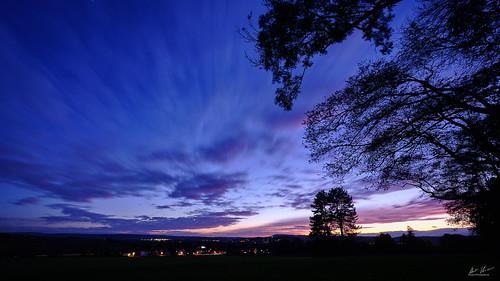 sunset badnenndorf niedersachsen lowersaxony deutschland golden hour blue landscape landschaft sonnenuntergang