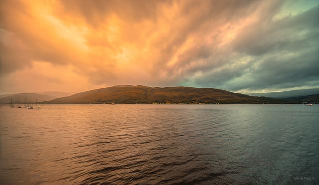 Alien skies over Loch Linnhe near Fort William.