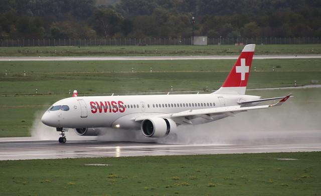 Swiss International Airlines, HB-JCF, MSN 55015, Airbus A 220 (CS 300), 19.10.2019,  DUS-EDDL, Düsseldorf
