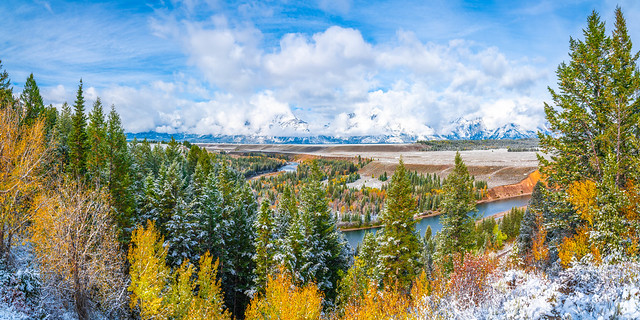 Wyoming Snow Fuji GFX100! Grand Teton National Park Snake River Overlook Fuji GFX100 Teton Mountain Sunrise Reflections Fine Art Landscape & Nature Photography! Fuji GFX 100 Medium Format & Fujifilm Fujinon GF 32-64mm f/4 R LM WR G Mount Lens! McGucken