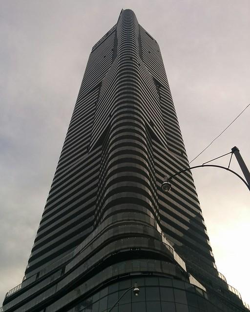 10 Wellesley West, from an angle #toronto #yongeandwellesley #10wellesleywest #skyscraper #condos #architecture