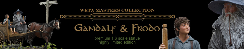 Gandalf and Frodo Master Collection statue