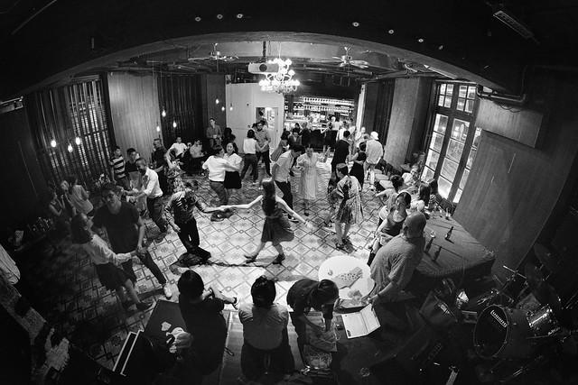 Swing dance party in Hong Kong