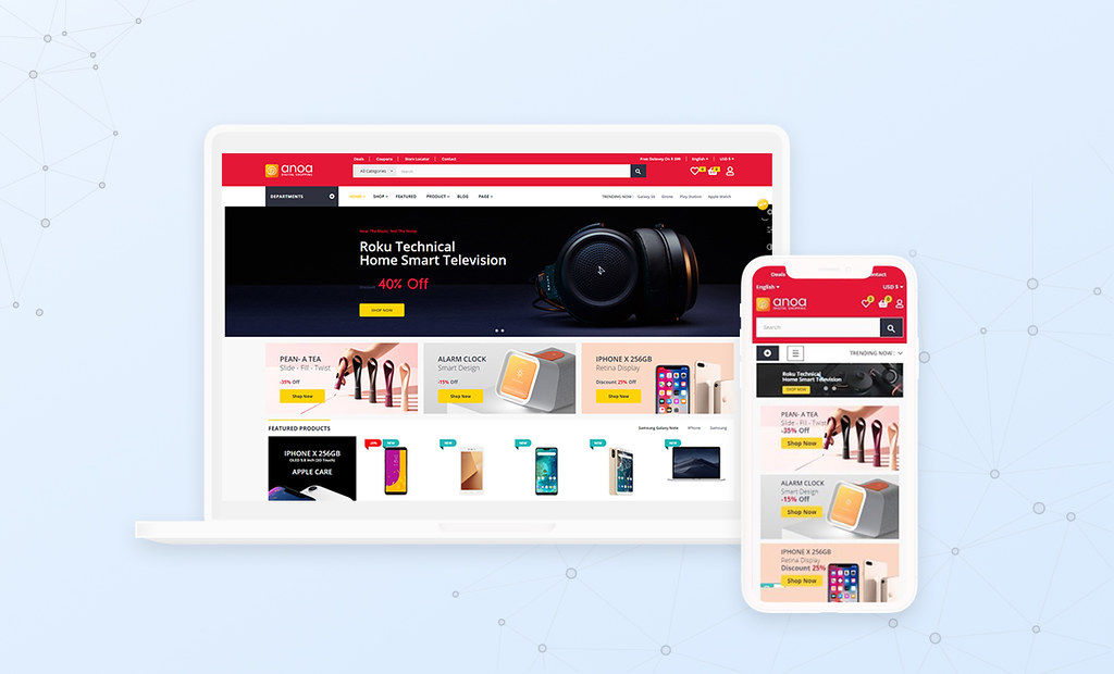 Leo Anoa Supermarket Template - Fully Responsive