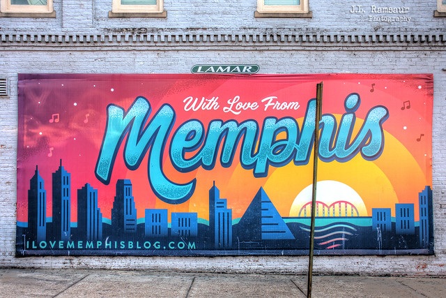 With Love from Memphis sign - Beale Street - Memphis, Tennessee