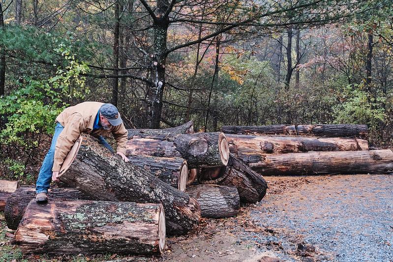 Lifting a log