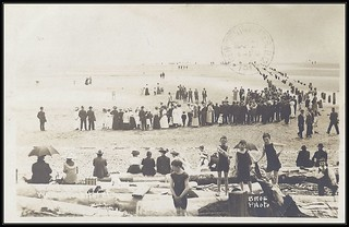 c. 1912 BROE Real Photo Postcard - View of the Beach near the White Rock Hotel at White Rock, B.C.