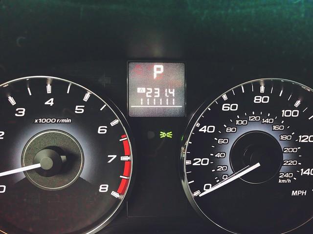 111,111 miles. 10/15/19