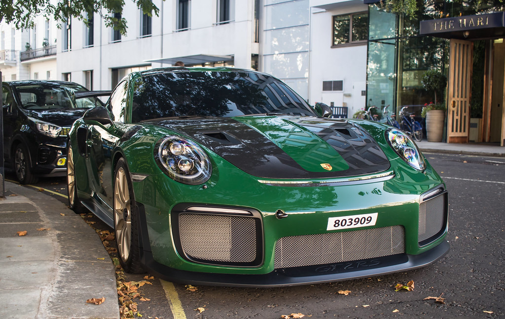 British Racing Green Porsche Gt2rs Weissach 803909 The Har Flickr