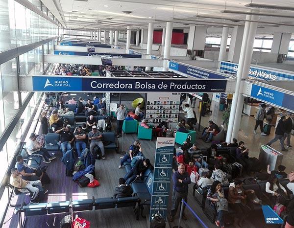 SCL terminal 20 de octubre (protesta Chile) (RD)