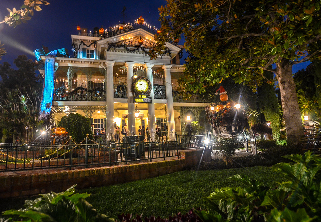 Haunted Mansion Overlay DCA night