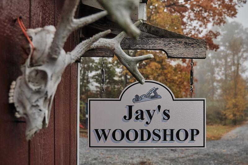 Jay's Woodshop sign