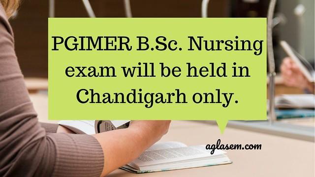 PGIMER B.Sc. NUrsing 2020 exam center