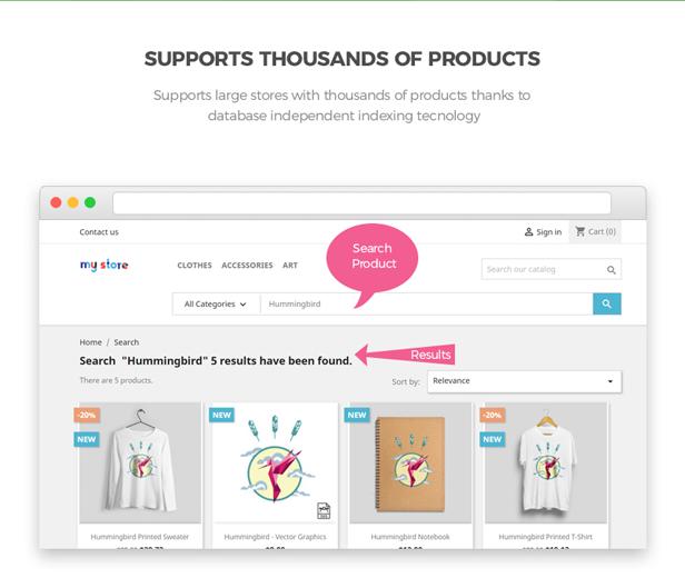 ap product search - best search module prestashop