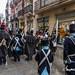 Escaramuzas por las calles de Oviedo entre Carlistas e Isabelionos con motivo de la Fiesta del Desarme 2019. Cofradía del Desarme de Oviedo, Asturias, España.