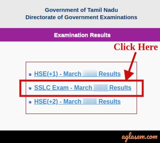 Tamil Nadu SSLC Result 2020