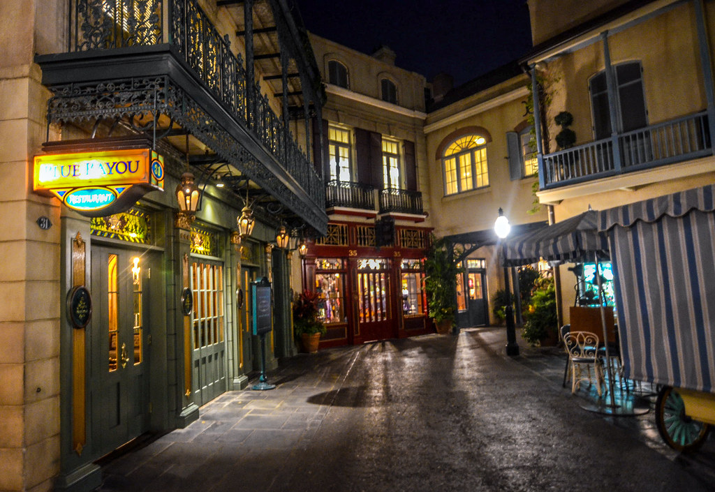 New Orleans Square entrance DL night
