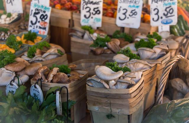 Fresh Mushroom At the Market
