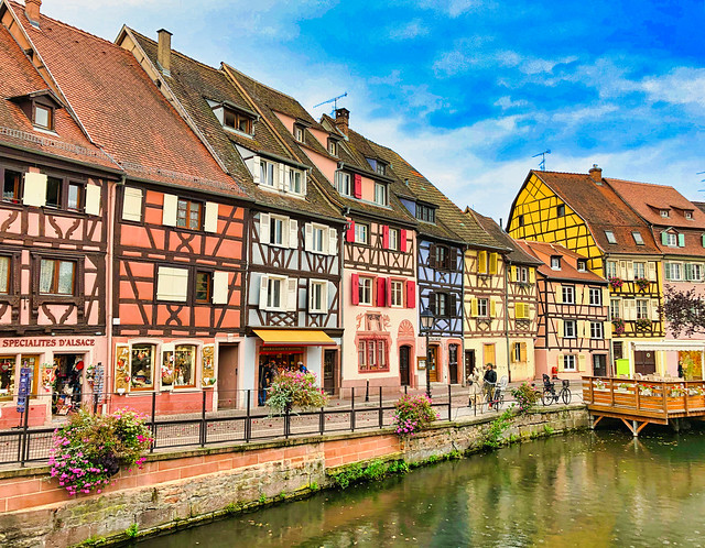 🇫🇷 quai de la Poissonnerie, Colmar, Alsace (France)