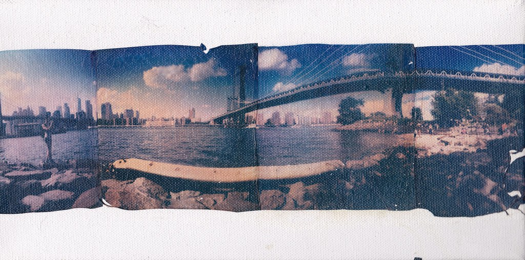 Polaroid week Roid week  Day 3 roid 1 #polaroidweek #roidweek #roidweekfall2019 #polaroid #shootfilm #polaroidoriginals #polaroidweek2019 #landscape #panorama #emulsionlift #emulsiontransfer #brooklyn #polaroid #instantlab