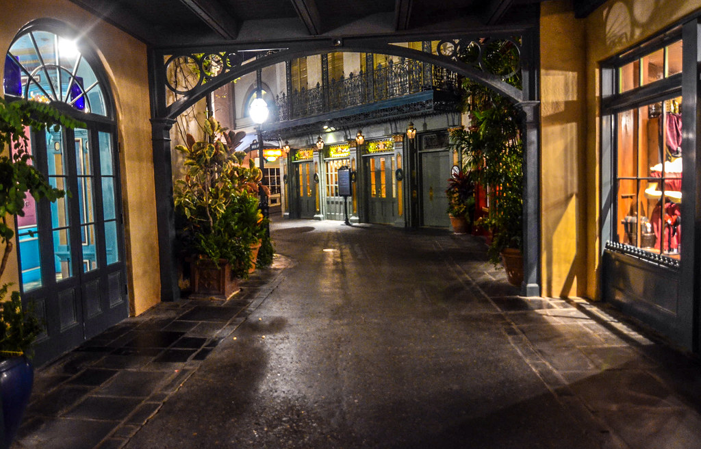 New Orleans Square archway DL