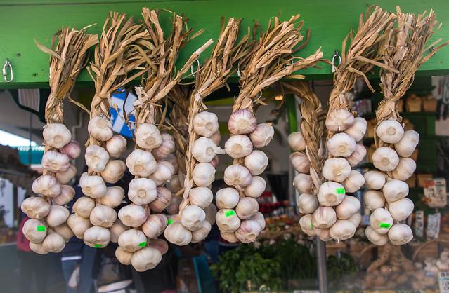 Fresh Garlic at the Market