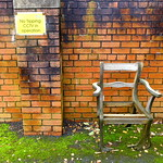 Uncomfortable looking seat in Preston