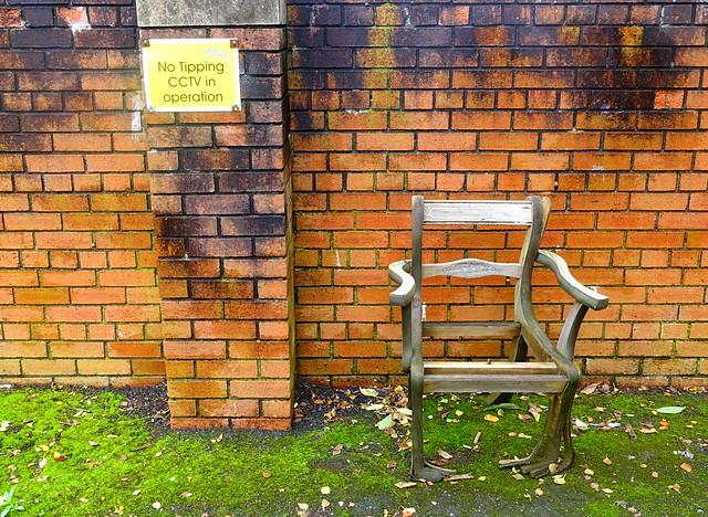 Uncomfortable looking seat in Preston