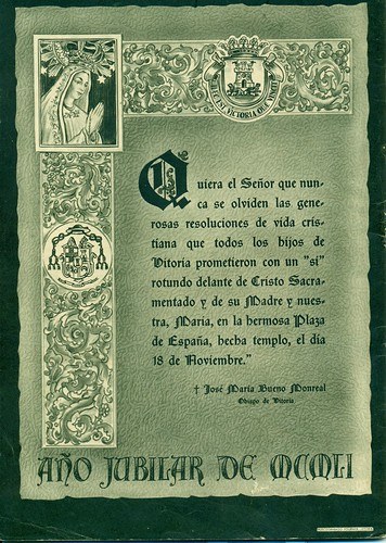 Misión Vitoria 1951 Texto obispo Bueno Monreal