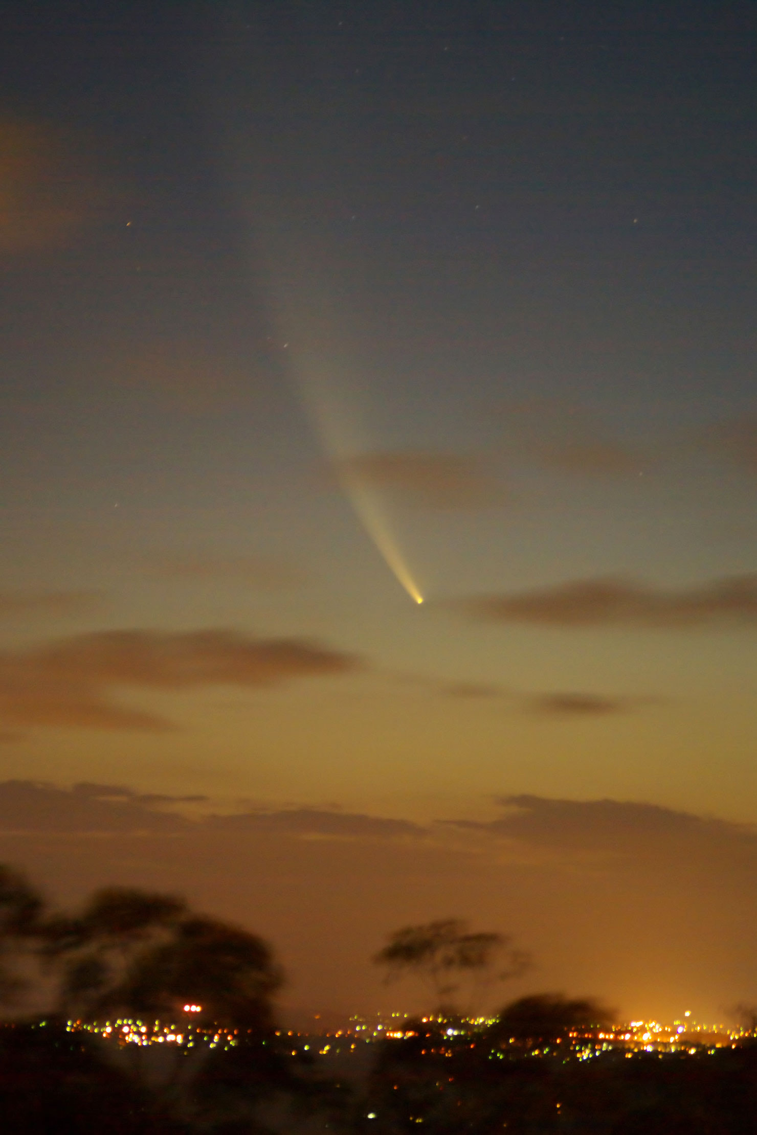 Comet McNaught over Brisbane