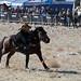 Coin grabbing on horseback competition Tenge-ilu