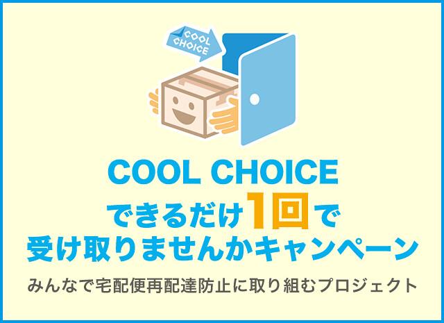 「COOL CHOICE」倡議活動之一,「盡可能地讓宅配只送一次」。圖片來源:COOL CHOICE網站