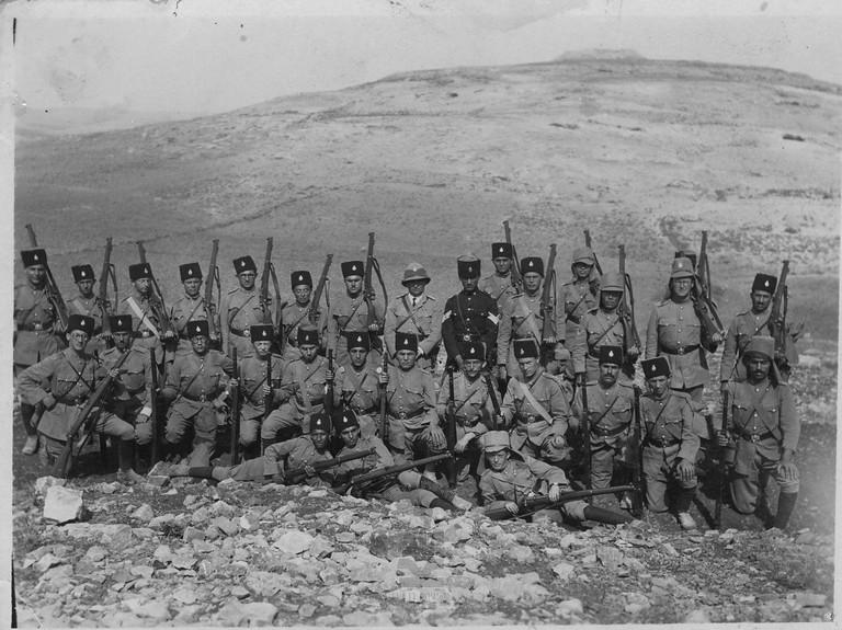Tel-el-Ful-police-training-1924-ybz-1