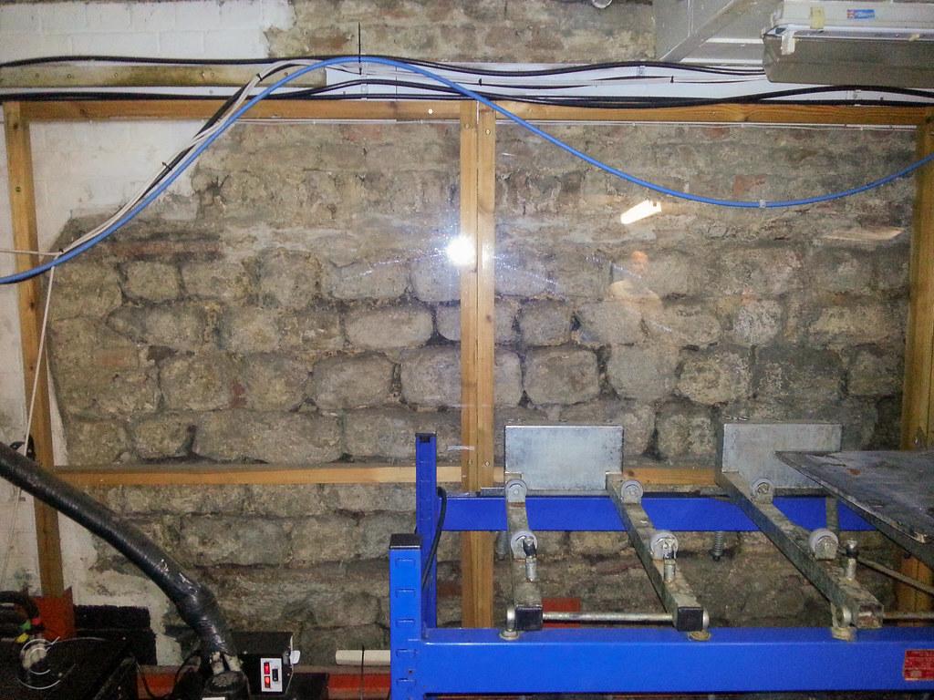 Roman wall in cellar of The Three Tuns pub