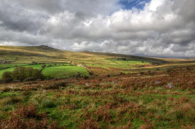 Dartmoor landscape near Two Bridges