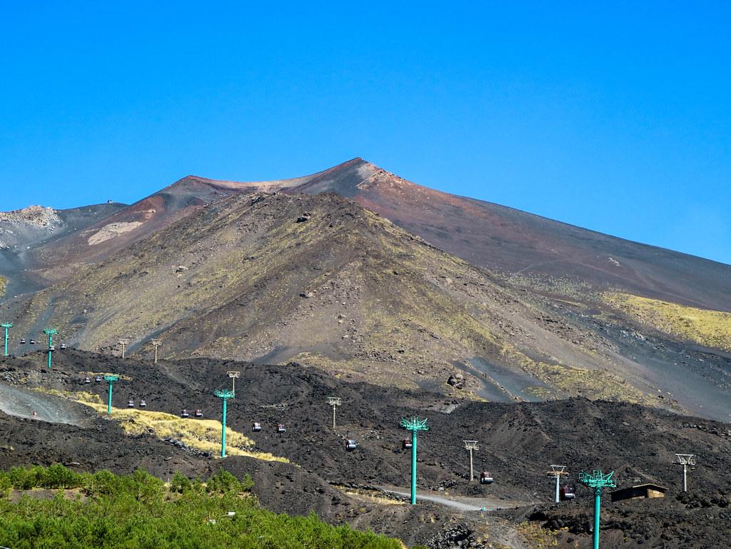 Ascenso en Teleferico en el Etna