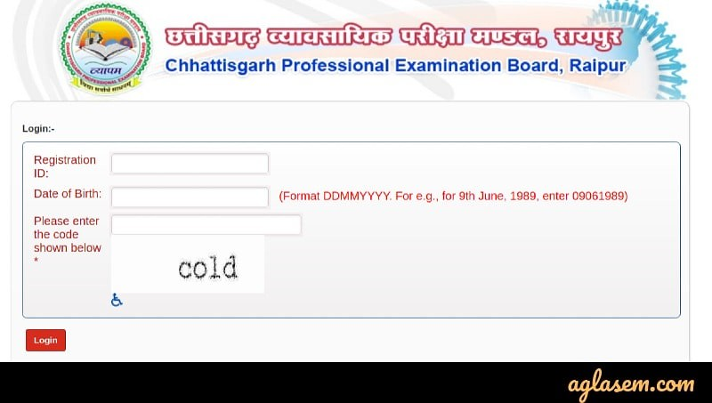 CG PPT Application form 2020