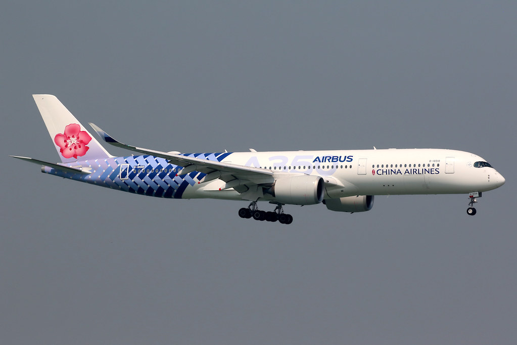 China Airlines | Airbus A350-900 | B-18918 | carbon fibre livery | Hong Kong International