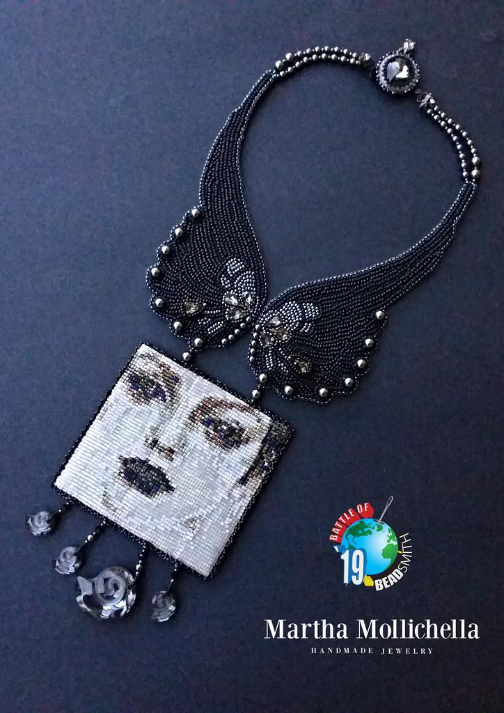 Angelita di Anzio Anzio Landing Martha Mollichella miyuki delicas beadloom bead embroidery