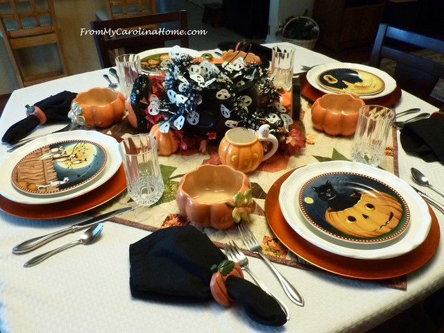 Halloween Tablescape at FromMyCarolinaHome.com