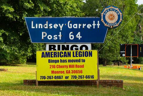 sony alpha a7ii monroe georgia ga americanlegion bingo sign