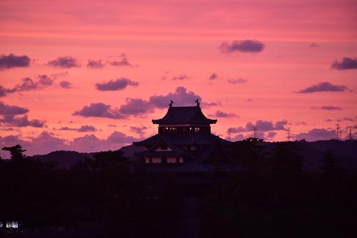 shimane matsue matsuecastle castle sunset d750 nikon nikond750 28300mm dusk sanin 島根 松江 松江城 山陰