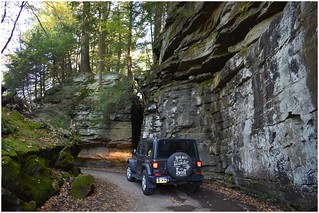 Maneuvering around the rocks @ Pennsylvania's McConnells Mill State Park