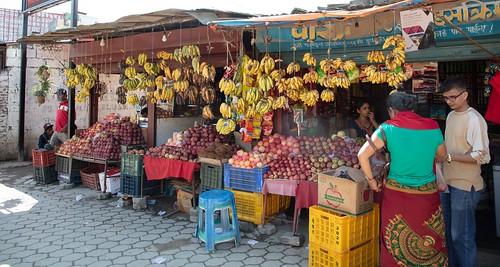 Market Area in Damauli, Nepal
